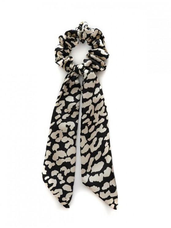 أنيقة ليوبارد طباعة مطاطا الشعر Hairband - أسود