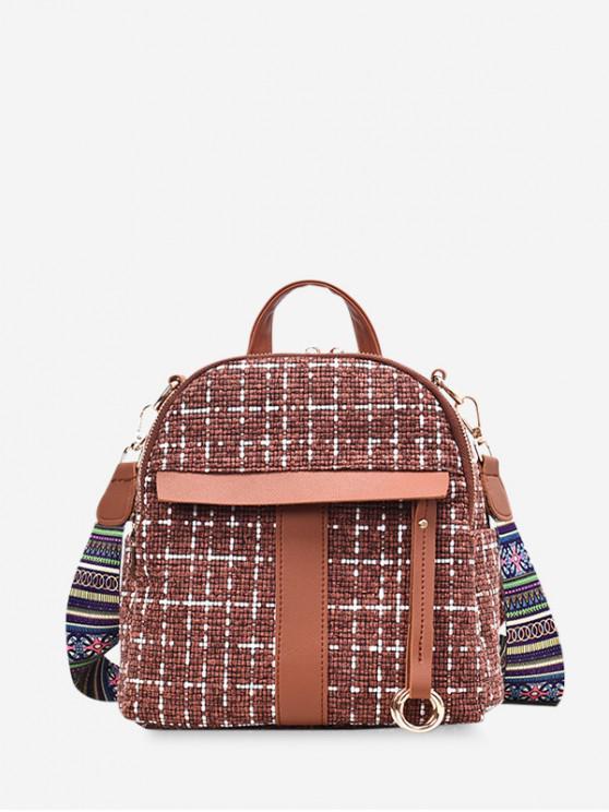 Modelo de la tela mochila casual simple - Marrón