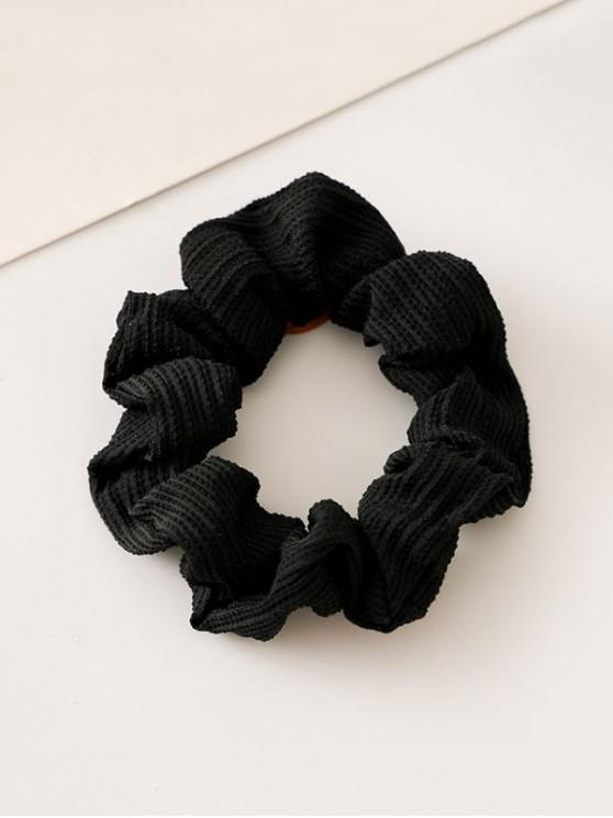 shops Solid Color Decoration Elastic Hairband - BLACK