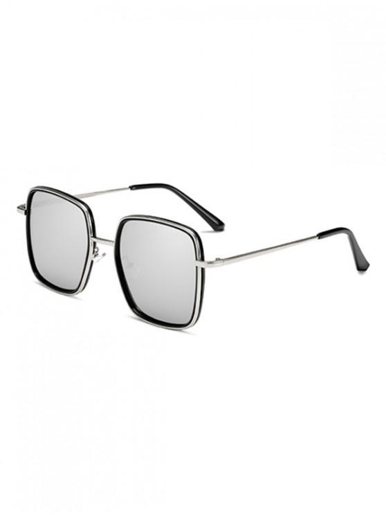 fashion Classic Metal Square Sunglasses - WARM WHITE