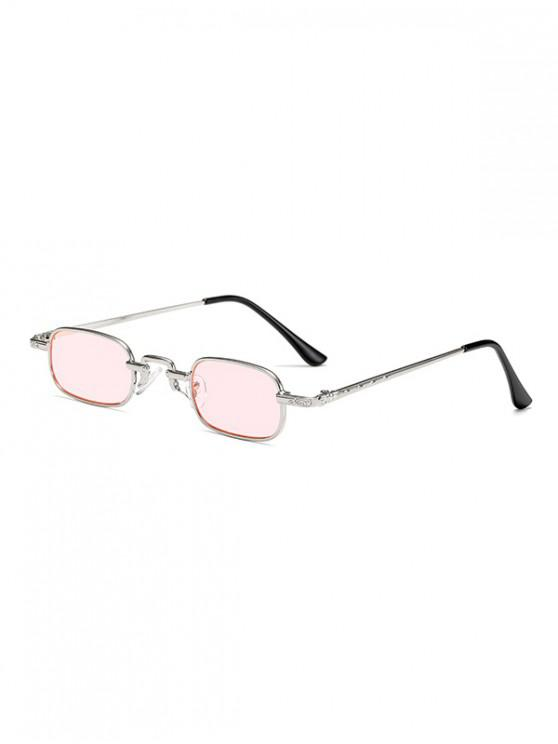 fancy Small Rectangle Anti UV Sunglasses - PIG PINK