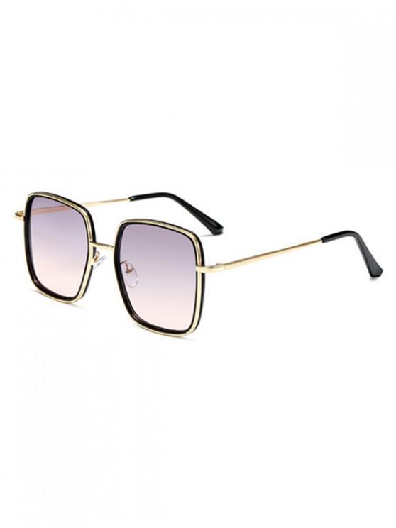 sale Classic Metal Square Sunglasses - MULTI-A