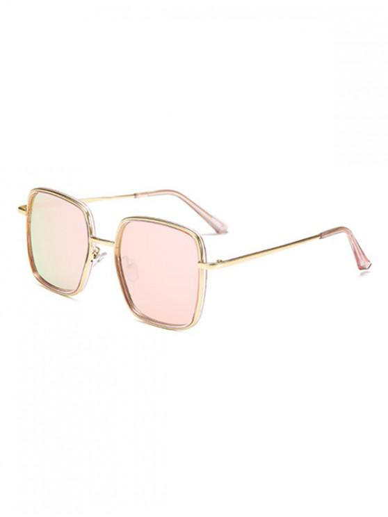 affordable Classic Metal Square Sunglasses - ROSE