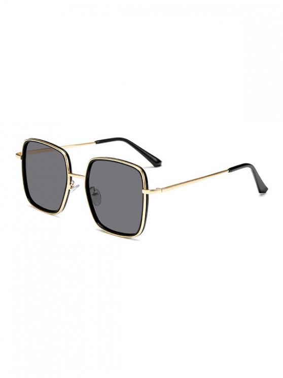 buy Classic Metal Square Sunglasses - BLACK