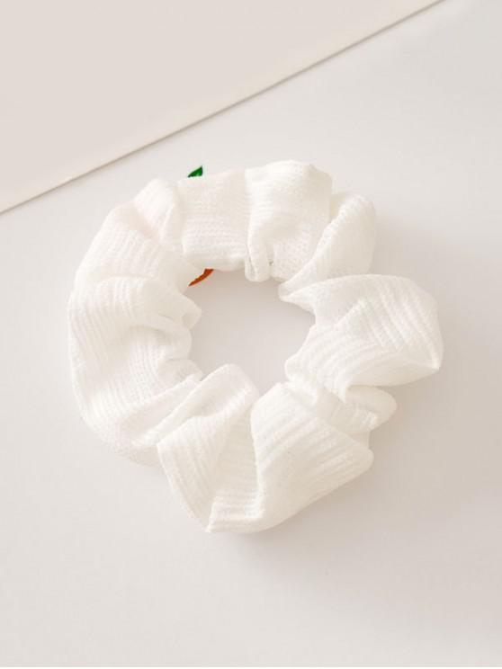 ladies Solid Color Decoration Elastic Hairband - WHITE