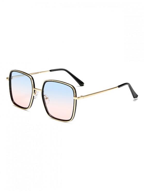 Gafas de sol de metal cuadrado clásico - Multicolor-B