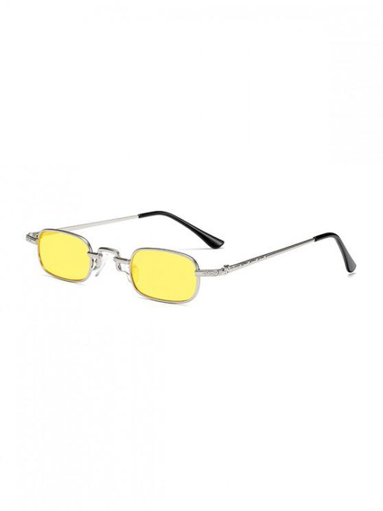 online Small Rectangle Anti UV Sunglasses - YELLOW