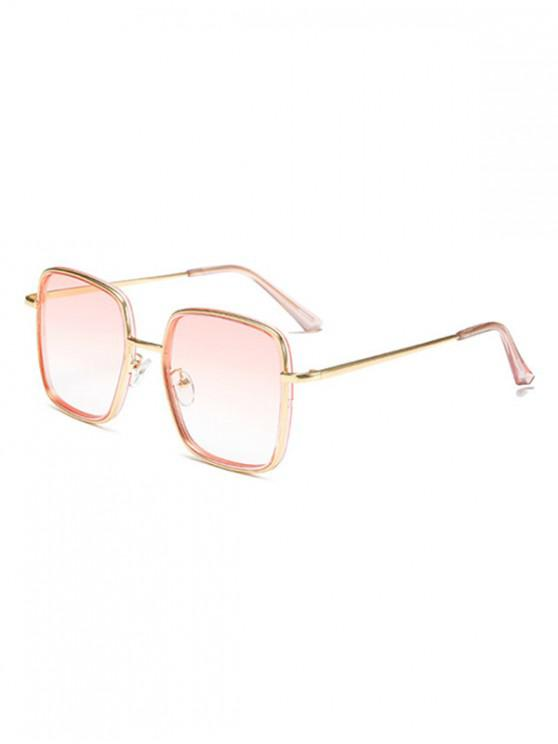 shop Classic Metal Square Sunglasses - LIPSTICK PINK