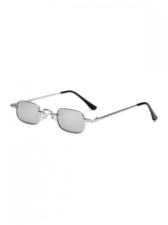 latest Small Rectangle Anti UV Sunglasses - COOL WHITE