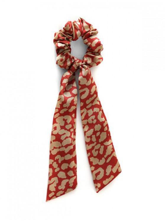 fashion Chic Leopard Print Elastic Hairband - RED WINE
