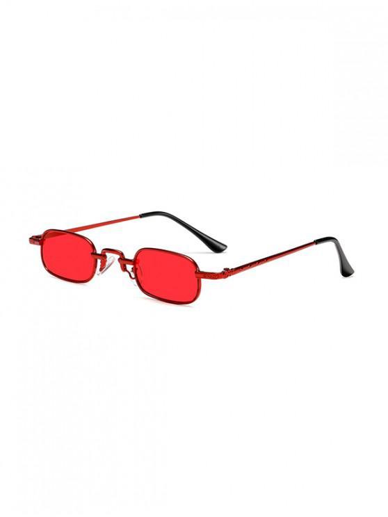 women's Small Rectangle Anti UV Sunglasses - RED