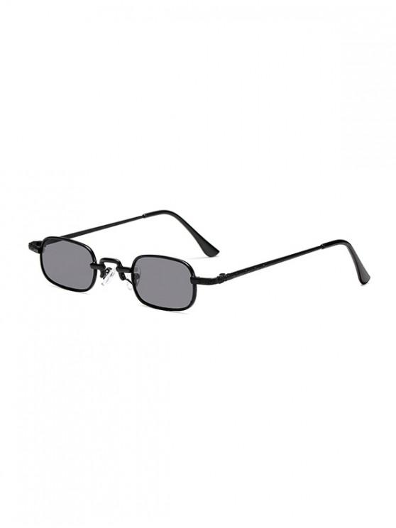 ladies Small Rectangle Anti UV Sunglasses - BLACK
