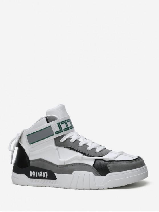 online Color-blocking Hook Loop High Top Skate Shoes - GRAY EU 43