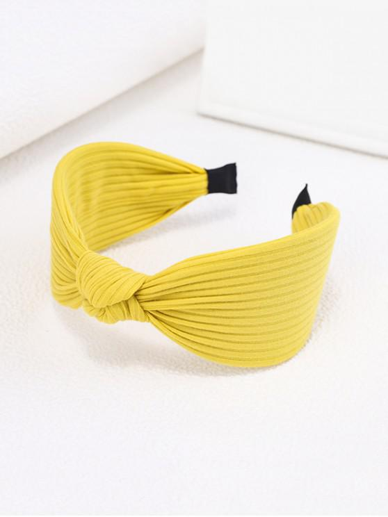 new Knot Fabric Striped Wide Hairband - GOLDENROD