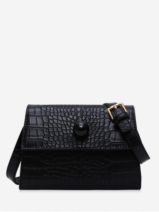 shop Embossed Cover Shoulder Bag - BLACK