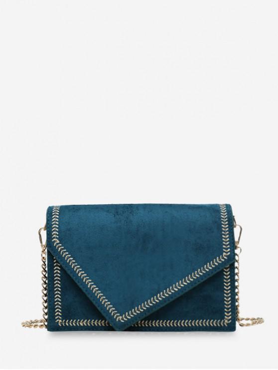 Oreja de Bolso de hombro de trigo cubierta de línea - Azul