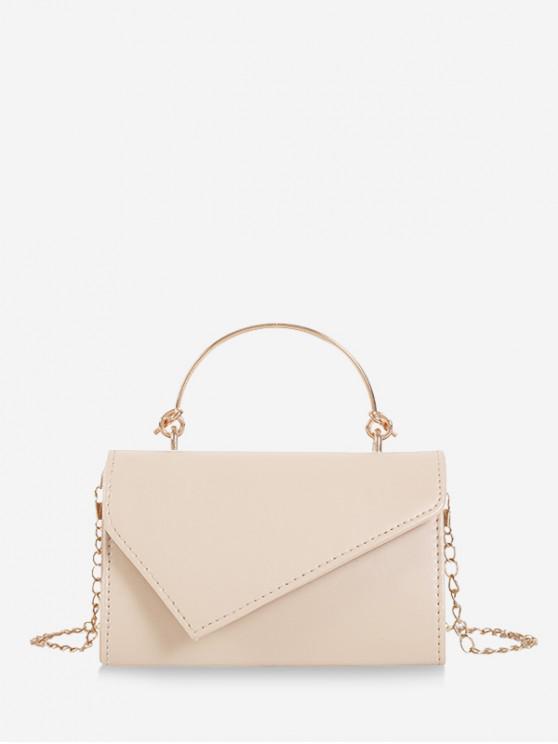 shop Solid Chain Irregular Shoulder Bag - WHITE