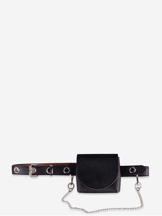 chic Cover Small Belt Waist Bag - BLACK