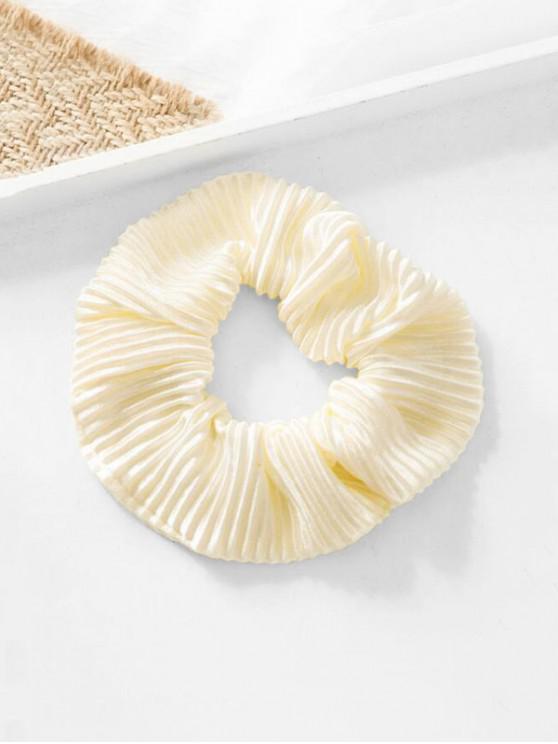 fancy Elastic Scrunchie - BEIGE