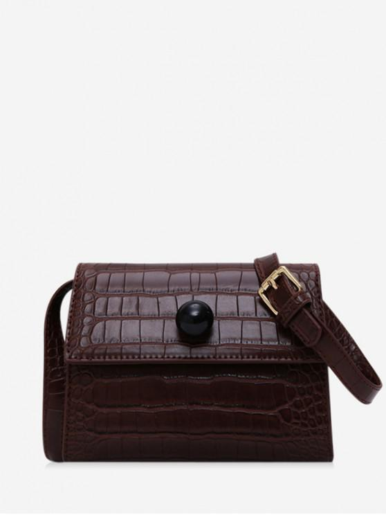 sale Embossed Cover Shoulder Bag - BROWN