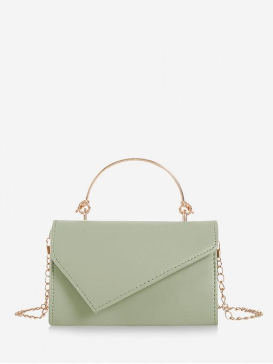 hot Solid Chain Irregular Shoulder Bag - GREEN