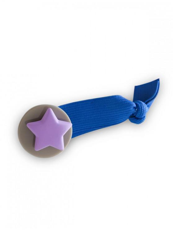 圓星彈性發帶 - 藍色