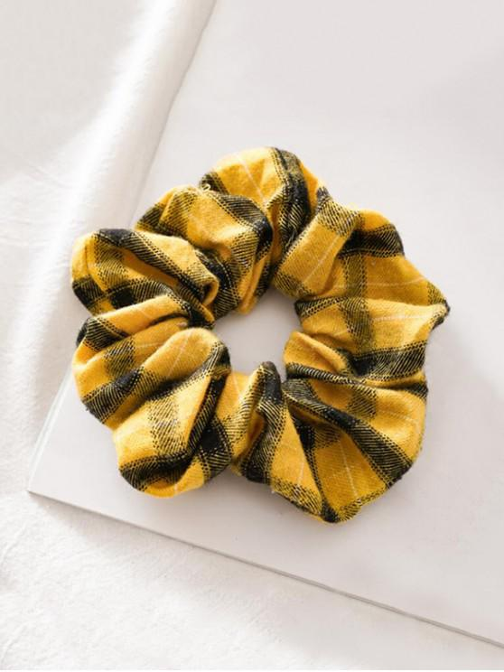 women's Fabric Elastic Scrunchie - YELLOW