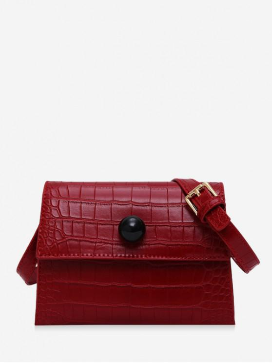 best Embossed Cover Shoulder Bag - RED WINE