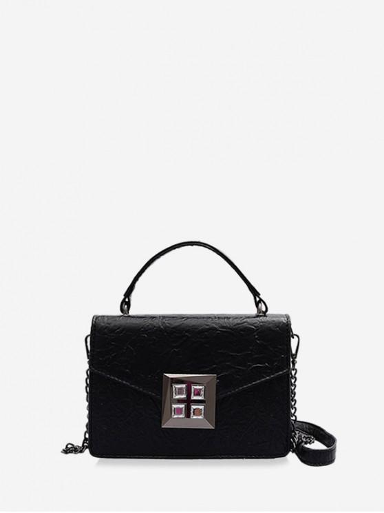 trendy Drape Fabric Shoulder Bag - BLACK
