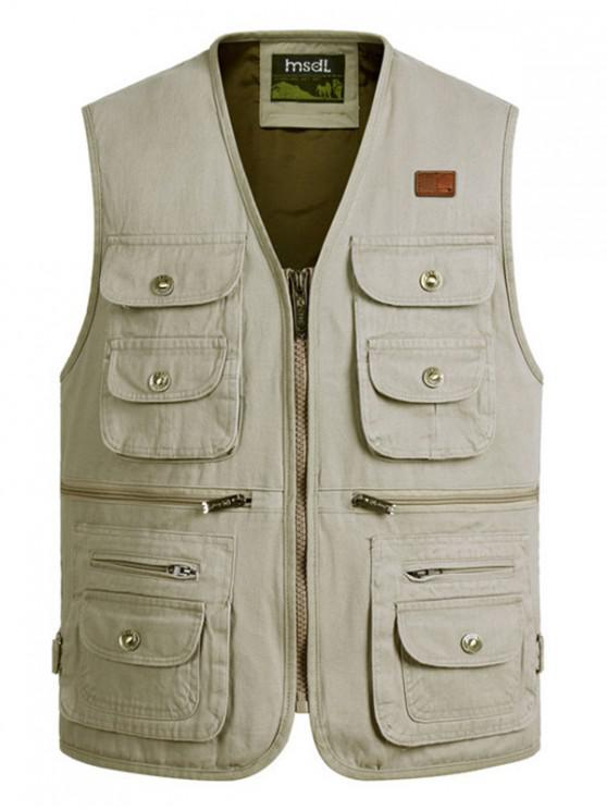 new Outdoor Multi Pockets Cargo Waistcoat - BEIGE 3XL