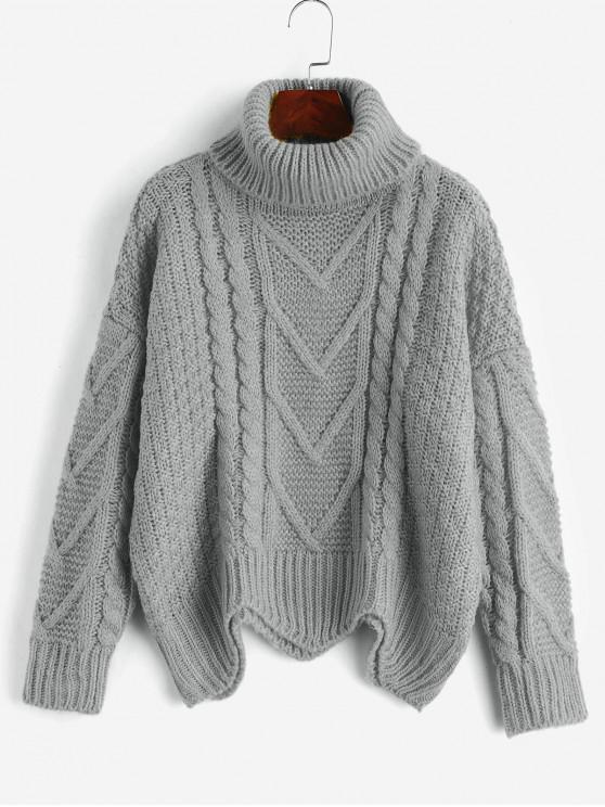 Jersey Cuello Alto Grueso - Gris Talla única