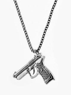Collar Pendiente De Hip-hop - Gunmetal