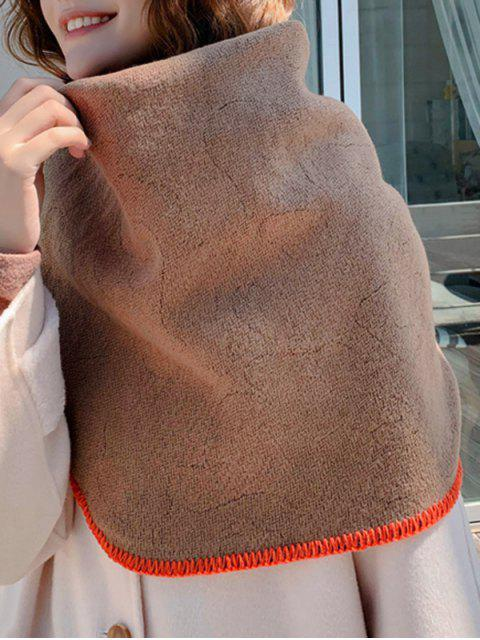 Ромб Искусственный кашемир Одноцветный Шарф - Хаки  Mobile