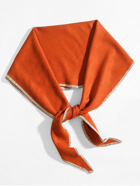 Echarpe Losange en Couleur Unie en Faux Cachemire - Orange Citrouille  Mobile