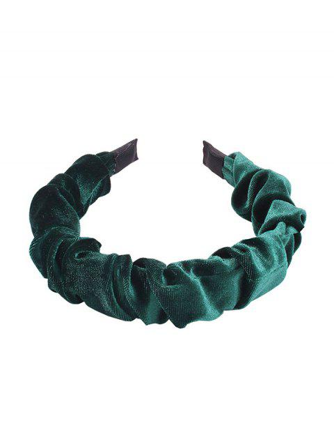 chic Corduroy Hairband - DARK GREEN  Mobile