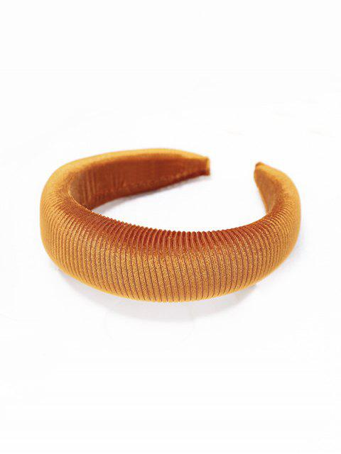 fashion Solid Corduroy Hairband - GOLDEN BROWN  Mobile