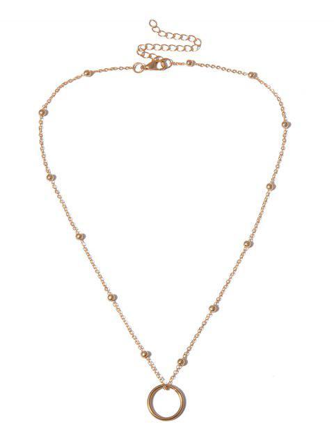 Collier de Clavicule Perlé Cercle Pendant - Or  Mobile