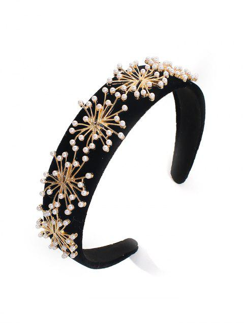 affordable Artificial Pearl Hairband - BLACK  Mobile