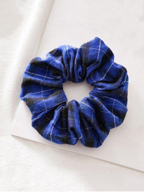 Chouchou Elastique en Tissu - Bleu  Mobile