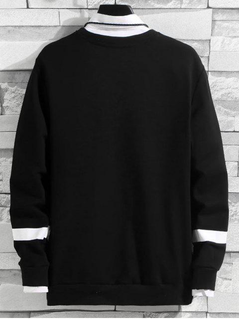 Carta Gráfica ocasional de la camiseta - Negro L Mobile