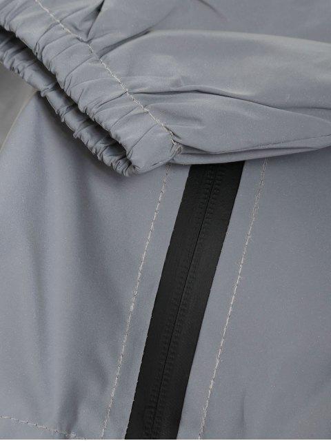 Giacca da Vento con Cerniera - Argento S Mobile