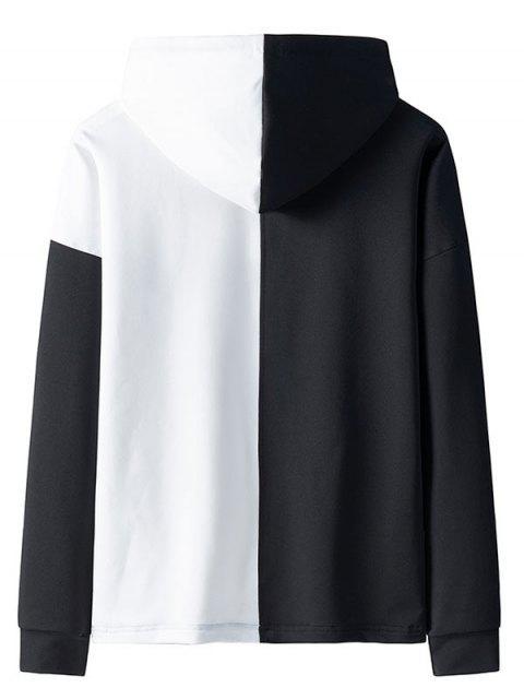 Empalmado de color impresa letra del lazo con capucha - Blanco XS Mobile