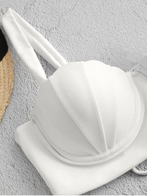 ZAFUL impresión floral empuja hacia arriba el Seashell Tankini Set - Lapislázuli S Mobile