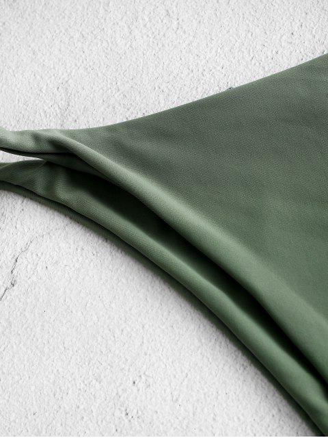 sale ZAFUL Low Waist Solid Bikini Bottom - HAZEL GREEN L Mobile
