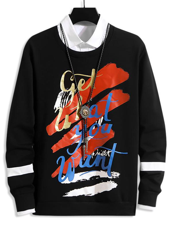 Letter Graphic Print Casual Sweatshirt thumbnail