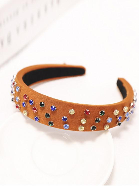 sale Colored Rhinestone Wide Hairband - TIGER ORANGE