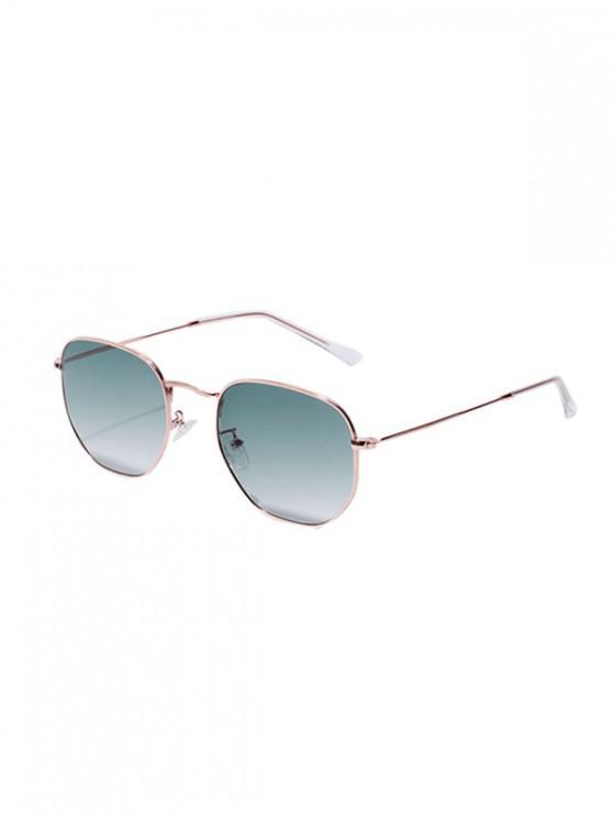 fashion Retro Square Design Alloy Frame Sunglasses - SEA GREEN