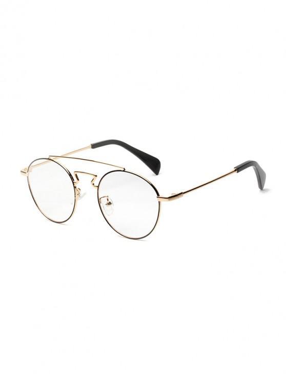 online Retro Round Design Alloy Frame Sunglasses - GOLD