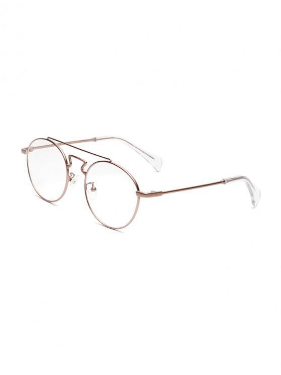 outfit Retro Round Design Alloy Frame Sunglasses - LIGHT PINK