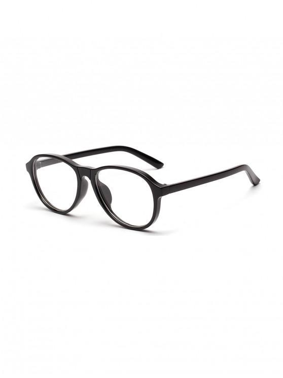 ไม่สม่ำเสมอใสกรอบแว่นกันแดดแบน - คาร์บอนสีเทา